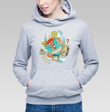 Улыбающийся РОБОТ - Купить детские толстовки абстрактные в Москве, цена детских толстовок абстрактных  с прикольными принтами - магазин дизайнерской одежды MaryJane