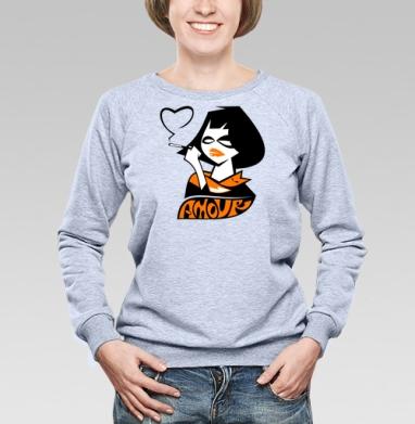 Amour - Купить детские свитшоты с дымом в Москве, цена детских свитшотов с дымом  с прикольными принтами - магазин дизайнерской одежды MaryJane