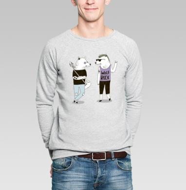Банда - Купить мужские свитшоты с волками в Москве, цена мужских свитшотов с волками  с прикольными принтами - магазин дизайнерской одежды MaryJane