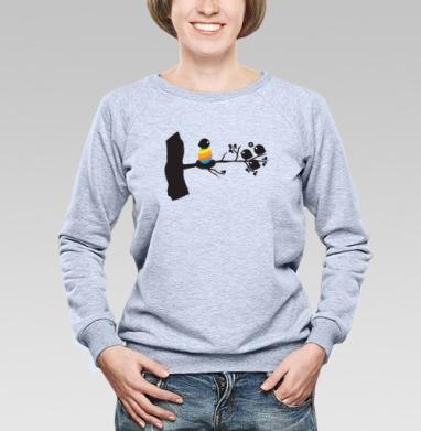 Birthofcolor - Купить детские свитшоты с птицами в Москве, цена детских свитшотов с птицами  с прикольными принтами - магазин дизайнерской одежды MaryJane