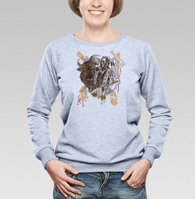 Бизон - Купить детские свитшоты с индейцами в Москве, цена детских свитшотов с индейцами  с прикольными принтами - магазин дизайнерской одежды MaryJane