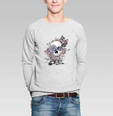 Череп с цветах - Купить мужские свитшоты паттерн в Москве, цена мужских  с паттерном  с прикольными принтами - магазин дизайнерской одежды MaryJane