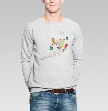 Цветы говорят о любви - Купить мужские свитшоты романтика в Москве, цена мужских  романтических  с прикольными принтами - магазин дизайнерской одежды MaryJane