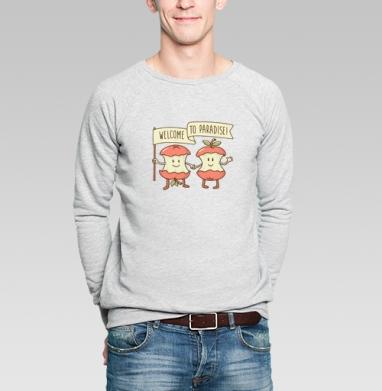 ДОБРО ПОЖАЛОВАТЬ В РАЙ! - Купить мужские свитшоты секс в Москве, цена мужских свитшотов секс  с прикольными принтами - магазин дизайнерской одежды MaryJane
