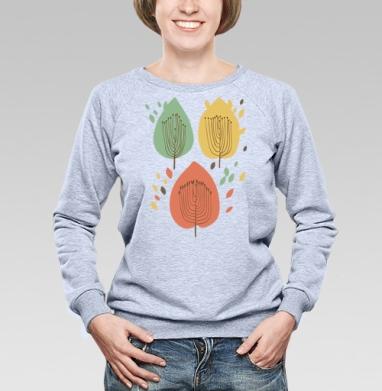 Floral pattern with leaves - Купить детские свитшоты абстрактные в Москве, цена детских свитшотов абстрактных  с прикольными принтами - магазин дизайнерской одежды MaryJane