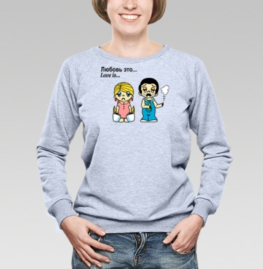 Футболки Love is...№3 - Купить детские свитшоты парные в Москве, цена детских свитшотов парных  с прикольными принтами - магазин дизайнерской одежды MaryJane