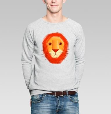 Грустный лев - Купить мужские свитшоты с летом в Москве, цена мужских  с летом  с прикольными принтами - магазин дизайнерской одежды MaryJane