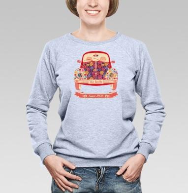 Жук в цветах - Купить женские свитшоты с автомобилями в Москве, цена женских свитшотов с автомобилями  с прикольными принтами - магазин дизайнерской одежды MaryJane