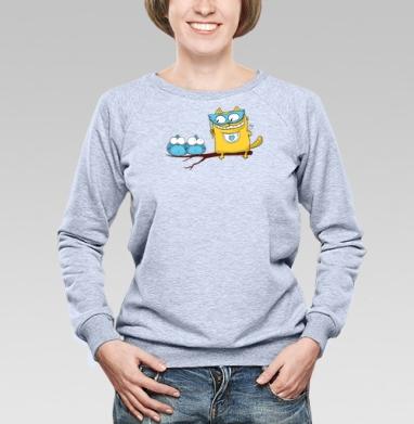 Ин-кот-нитО - Купить детские свитшоты с птицами в Москве, цена детских свитшотов с птицами  с прикольными принтами - магазин дизайнерской одежды MaryJane