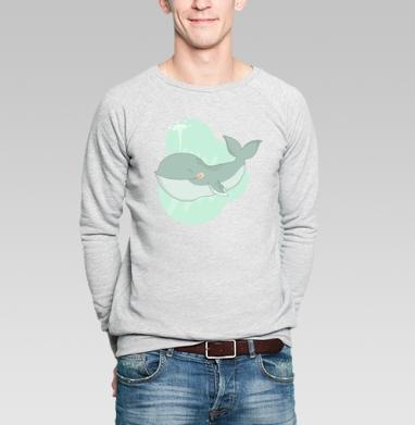 Кит улыбака - Купить мужские свитшоты со смайлами в Москве, цена мужских  со смайлами с прикольными принтами - магазин дизайнерской одежды MaryJane