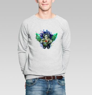 Космонавт и аквариум - Купить мужские свитшоты с людьми в Москве, цена мужских  с людьми  с прикольными принтами - магазин дизайнерской одежды MaryJane