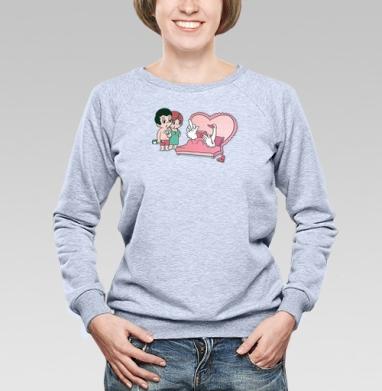 Love is.. - Купить детские свитшоты парные в Москве, цена детских свитшотов парных  с прикольными принтами - магазин дизайнерской одежды MaryJane
