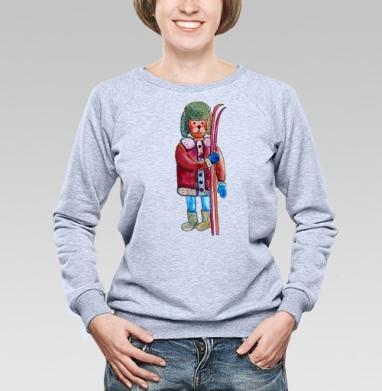 Лыжи - Купить детские свитшоты спортивные в Москве, цена детских свитшотов спортивных  с прикольными принтами - магазин дизайнерской одежды MaryJane
