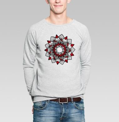 Мандала-лотос - Купить мужские свитшоты с йогой в Москве, цена мужских свитшотов с йогой  с прикольными принтами - магазин дизайнерской одежды MaryJane