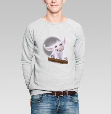 Милый зубастик - Купить мужские свитшоты милые в Москве, цена мужских свитшотов милых  с прикольными принтами - магазин дизайнерской одежды MaryJane