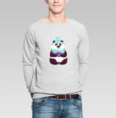 Панда в снегу - Купить мужские свитшоты Новый год в Москве, цена мужских  новогодних  с прикольными принтами - магазин дизайнерской одежды MaryJane