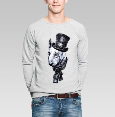 Сэр Бультерьер - Купить мужские свитшоты с собаками в Москве, цена мужских свитшотов с собаками  с прикольными принтами - магазин дизайнерской одежды MaryJane