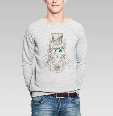 Стимпанк-Кот - Купить мужские свитшоты с животными в Москве, цена мужских свитшотов с животными  с прикольными принтами - магазин дизайнерской одежды MaryJane