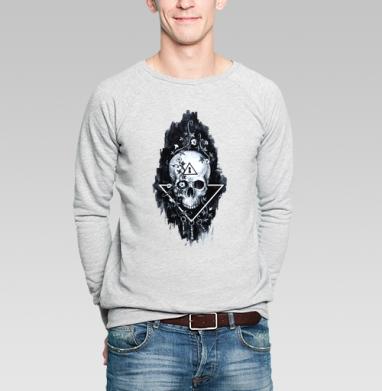 Тайна черепа - Купить мужские свитшоты Текстуры в Москве, цена мужских свитшотов Текстуры с прикольными принтами - магазин дизайнерской одежды MaryJane