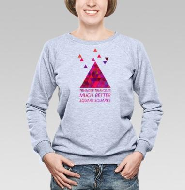 Треугольные треугольнички - Купить детские свитшоты хипстерские в Москве, цена детских свитшотов хипстерских  с прикольными принтами - магазин дизайнерской одежды MaryJane
