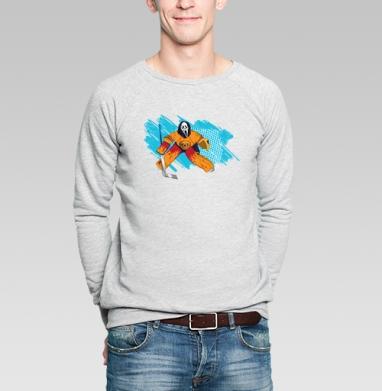 Трус не играет в хоккей - Купить мужские свитшоты с приколами в Москве, цена мужских свитшотов с приколами с прикольными принтами - магазин дизайнерской одежды MaryJane