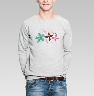 В летнем воздухе - Купить мужские свитшоты абстрактные в Москве, цена мужских свитшотов абстрактных  с прикольными принтами - магазин дизайнерской одежды MaryJane