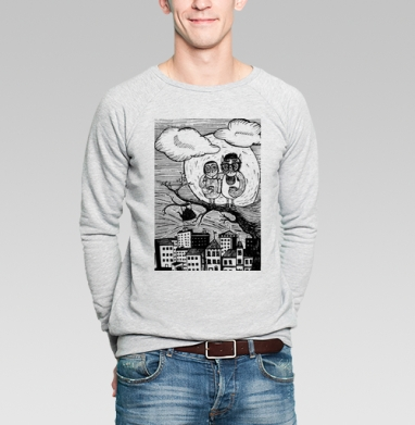Вечерний кофе - Купить мужские свитшоты с городами в Москве, цена мужских  с городами  с прикольными принтами - магазин дизайнерской одежды MaryJane