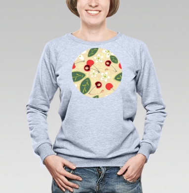 Вишневый сад - Купить женские свитшоты с роами в Москве, цена женских свитшотов с розой с прикольными принтами - магазин дизайнерской одежды MaryJane