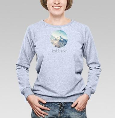 Внутри меня - Купить женские свитшоты с природой в Москве, цена женских свитшотов с природой  с прикольными принтами - магазин дизайнерской одежды MaryJane