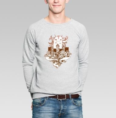 Хранитель - Купить мужские свитшоты с городами в Москве, цена мужских  с городами  с прикольными принтами - магазин дизайнерской одежды MaryJane