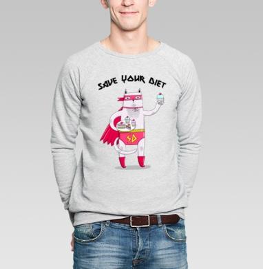 Хранитель тортов - Купить мужские свитшоты сладости в Москве, цена мужских свитшотов со сладостями  с прикольными принтами - магазин дизайнерской одежды MaryJane