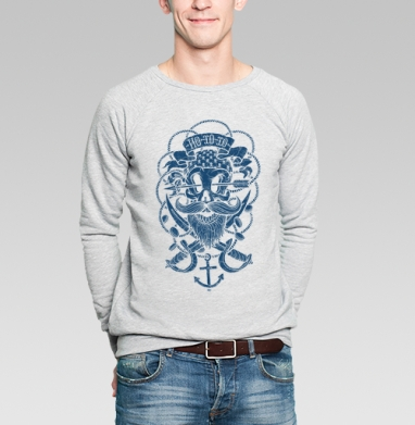 Йо хо хо - Купить мужские свитшоты с черепом в Москве, цена мужских  с черепом  с прикольными принтами - магазин дизайнерской одежды MaryJane
