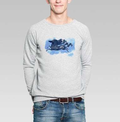 Зимняя ночь - Купить мужские свитшоты со сказками в Москве, цена мужских  со сказками  с прикольными принтами - магазин дизайнерской одежды MaryJane