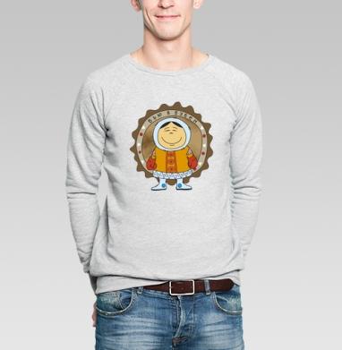 Бью в бубен... - Купить мужские свитшоты этно в Москве, цена мужских  этно  с прикольными принтами - магазин дизайнерской одежды MaryJane