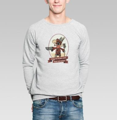Bring me all your weed! - Купить мужские свитшоты с пиратом в Москве, цена мужских свитшотов пиратских с прикольными принтами - магазин дизайнерской одежды MaryJane