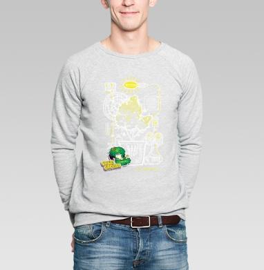 Crazy Grower - Купить мужские свитшоты с дымом в Москве, цена мужских свитшотов с дымом  с прикольными принтами - магазин дизайнерской одежды MaryJane