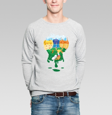 Цветной мир - Купить мужские свитшоты с солнцем в Москве, цена мужских свитшотов с солнцем  с прикольными принтами - магазин дизайнерской одежды MaryJane