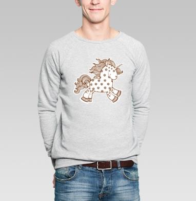 Цветочный единорог - Купить мужские свитшоты со сказками в Москве, цена мужских свитшотов со сказками  с прикольными принтами - магазин дизайнерской одежды MaryJane
