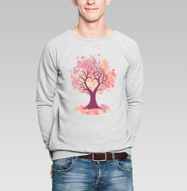 Дерево-сердце - Купить мужские свитшоты с кошками в Москве, цена мужских  с кошками  с прикольными принтами - магазин дизайнерской одежды MaryJane