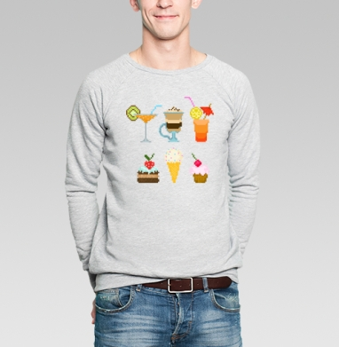 Десерт - Купить мужские свитшоты с мороженным в Москве, цена мужских  с мороженным  с прикольными принтами - магазин дизайнерской одежды MaryJane