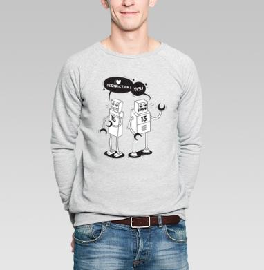 Destruction - Купить мужские свитшоты с роботами в Москве, цена мужских свитшотов с роботами с прикольными принтами - магазин дизайнерской одежды MaryJane