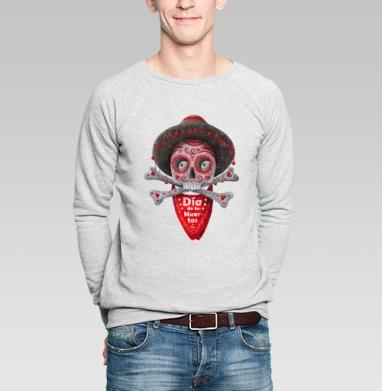 Dia de los Muertos - Купить мужские свитшоты с черепом в Москве, цена мужских свитшотов с черепом  с прикольными принтами - магазин дизайнерской одежды MaryJane