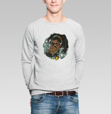 Дым - Купить мужские свитшоты с дымом в Москве, цена мужских свитшотов с дымом  с прикольными принтами - магазин дизайнерской одежды MaryJane