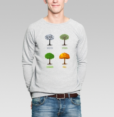 Fall - Купить мужские свитшоты с деревьями в Москве, цена мужских свитшотов с деревьями  с прикольными принтами - магазин дизайнерской одежды MaryJane