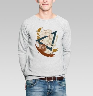 Geometria - Купить мужские свитшоты с геометрическим рисунком в Москве, цена мужских свитшотов с геометрическим рисунком  с прикольными принтами - магазин дизайнерской одежды MaryJane