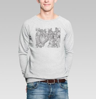 Город - Купить мужские свитшоты с городами в Москве, цена мужских свитшотов с городами  с прикольными принтами - магазин дизайнерской одежды MaryJane