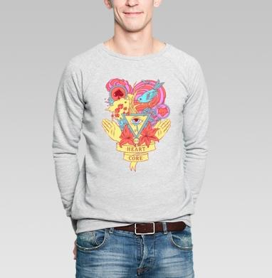 Heart core - Купить мужские свитшоты Текстуры в Москве, цена мужских свитшотов Текстуры с прикольными принтами - магазин дизайнерской одежды MaryJane