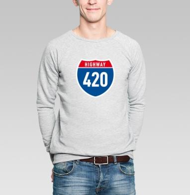 Highway 420 - Купить мужские свитшоты свобода в Москве, цена мужских свитшотов свобода  с прикольными принтами - магазин дизайнерской одежды MaryJane