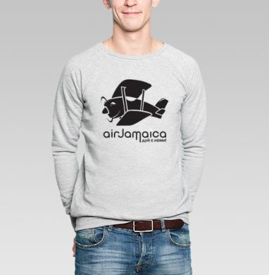 Jamaica airlines - ямайская футболка - Купить мужские свитшоты с дымом в Москве, цена мужских свитшотов с дымом  с прикольными принтами - магазин дизайнерской одежды MaryJane