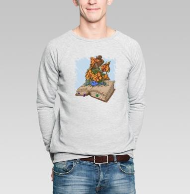 Книга про грибы - Купить мужские свитшоты с насекомыми в Москве, цена мужских свитшотов с насекомыми  с прикольными принтами - магазин дизайнерской одежды MaryJane
